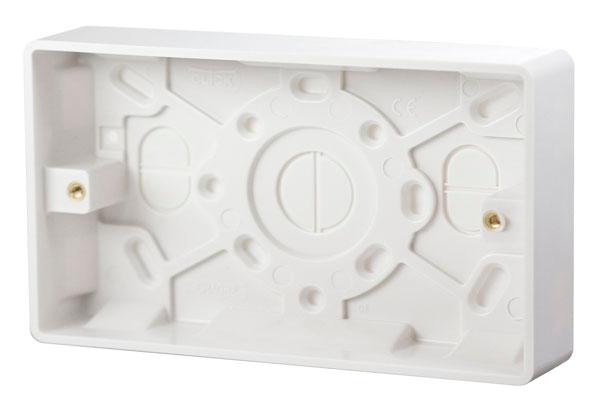 Click Mode 2 Gang 25mm Moulded Pattress Box