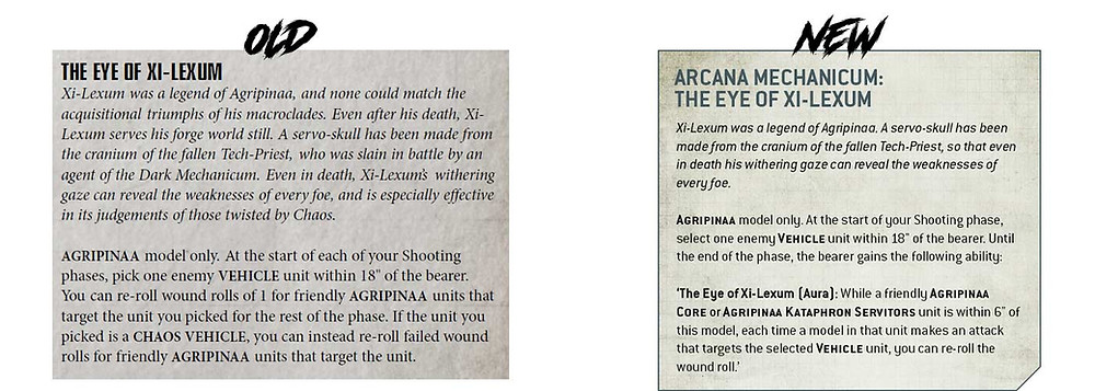 Difference between the old Agripinaa Relic and new Agripinaa Relic