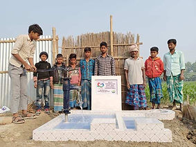 Completed Indian water well by Purpose of Life