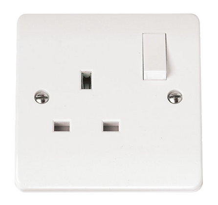 Click Mode 13A DP 1 Gang Switched Socket