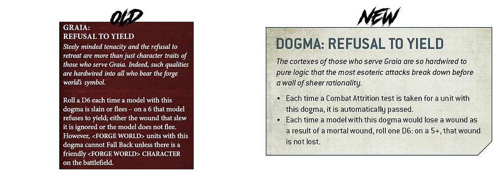 Difference between the old Graia Dogma and new Graia Dogma