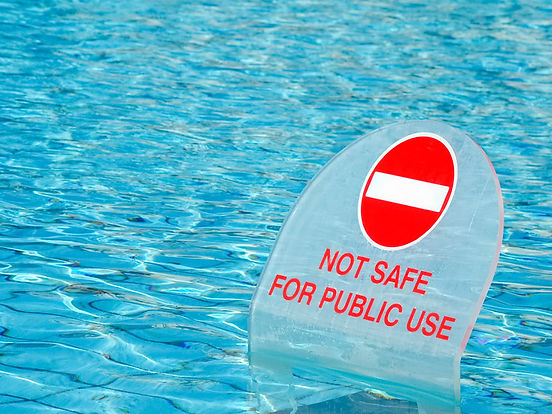 Flooting Do Not use sign in swimming pool