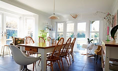 Picture of a large kitchen with Dinning table