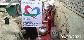 Construction of a water well in Rohingya