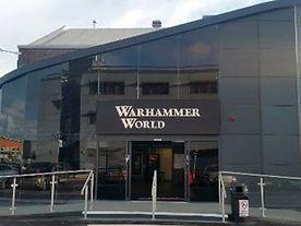 Entrance to games workshops Warhammer world.