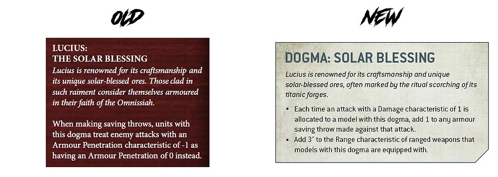 Difference between the old Lucius Dogma and new Lucius Dogma