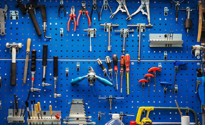 Organised tool area
