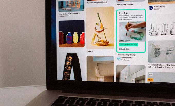 Pinterest On a laptop PC