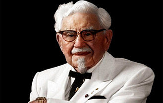 Picture of Colonel Sanders, KFC mascot and founder