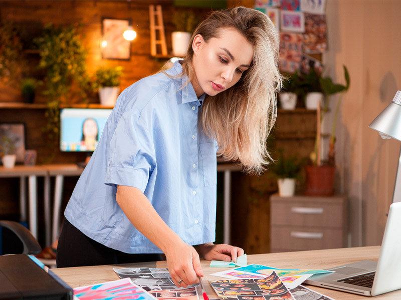 female graphic designer in the creative industry