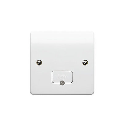MK K337WHI Fused Connection Unit (Spur) 13 Amp Unswitched with Flex Outlet