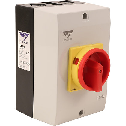 Stag 40A 4 Pole IP65 Rotary Isolator
