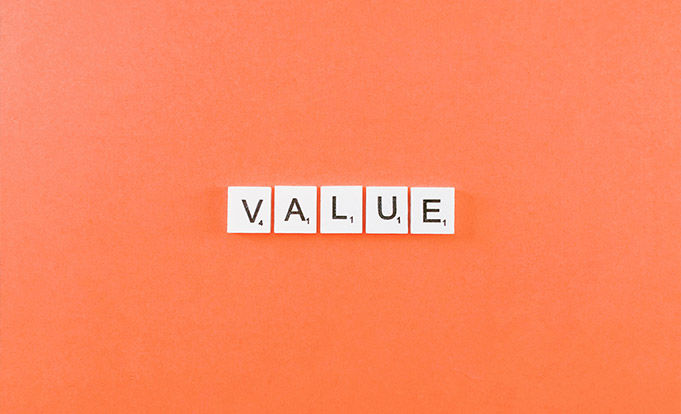 Value using Scrabble tiles