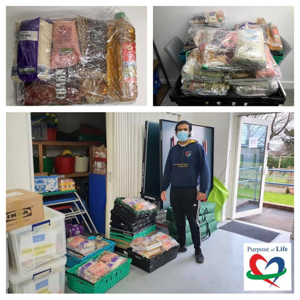 Purpose of life charity dropping off food parcels