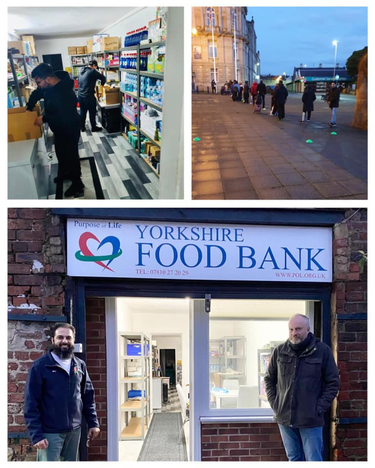 Yorkshire Food Bank signage