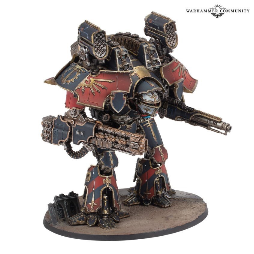 Warlord Titan with New Volkite weapons from Games Workshops Adeptus Titanicus Range