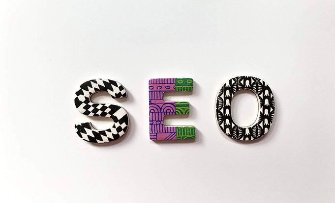 SEO logo on a white background