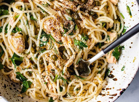 Lemon Tuna Spaghetti