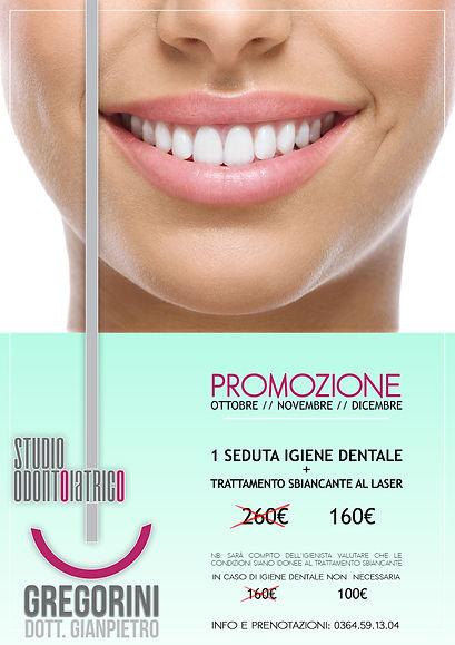 Promozione sbincamento dentale - Laser