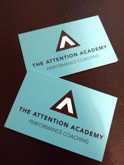 Attention Academy Business Cards
