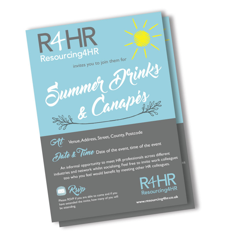 R4HR Summer Drinks Flyer