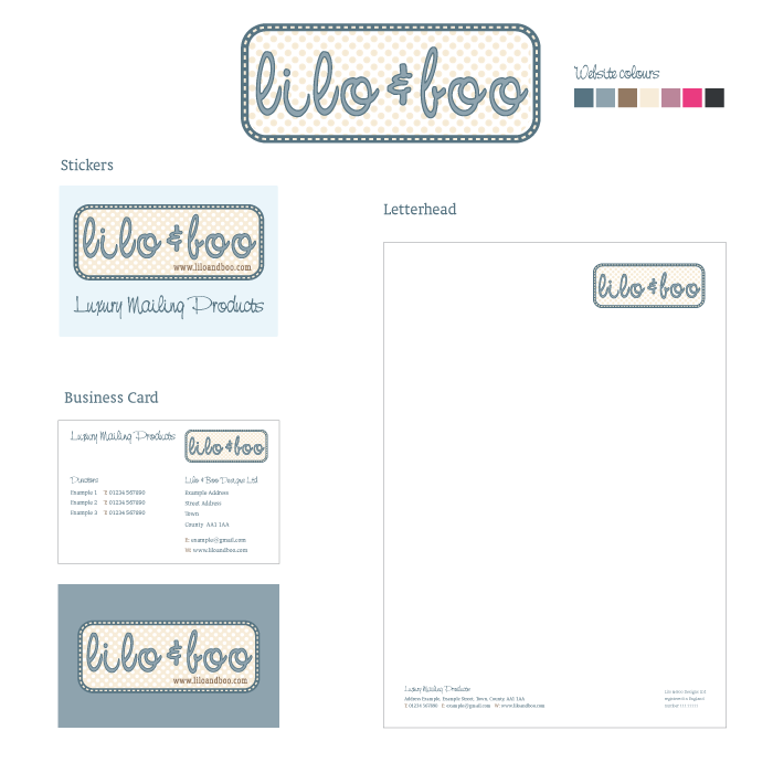 Lilo and Boo Luxury Mailing Products