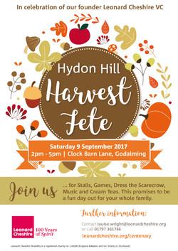 Harvest Fete flyer and poster