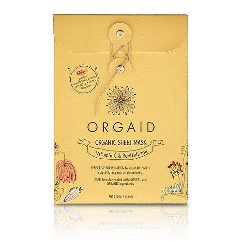 Orgaid Vitamin C and Revitalizing Organic Sheet Mask - 4 Pack