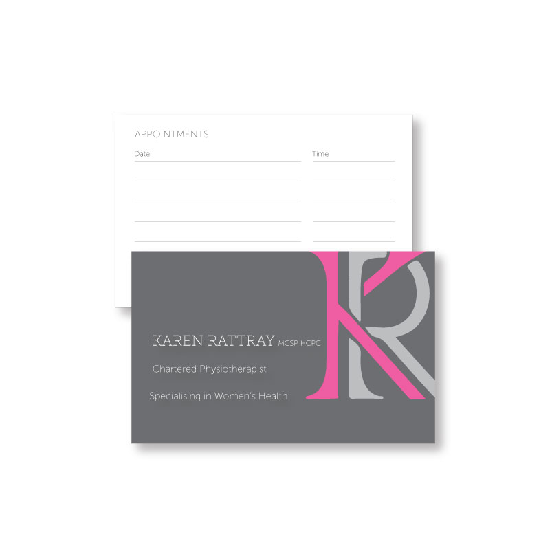 Business cards | Karen Rattray Physio