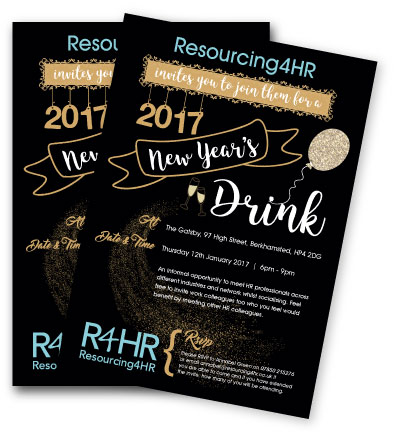 R4HR New Year Drinks Invitation 2017
