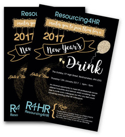 R4HR New Year Drinks Invitation 2017