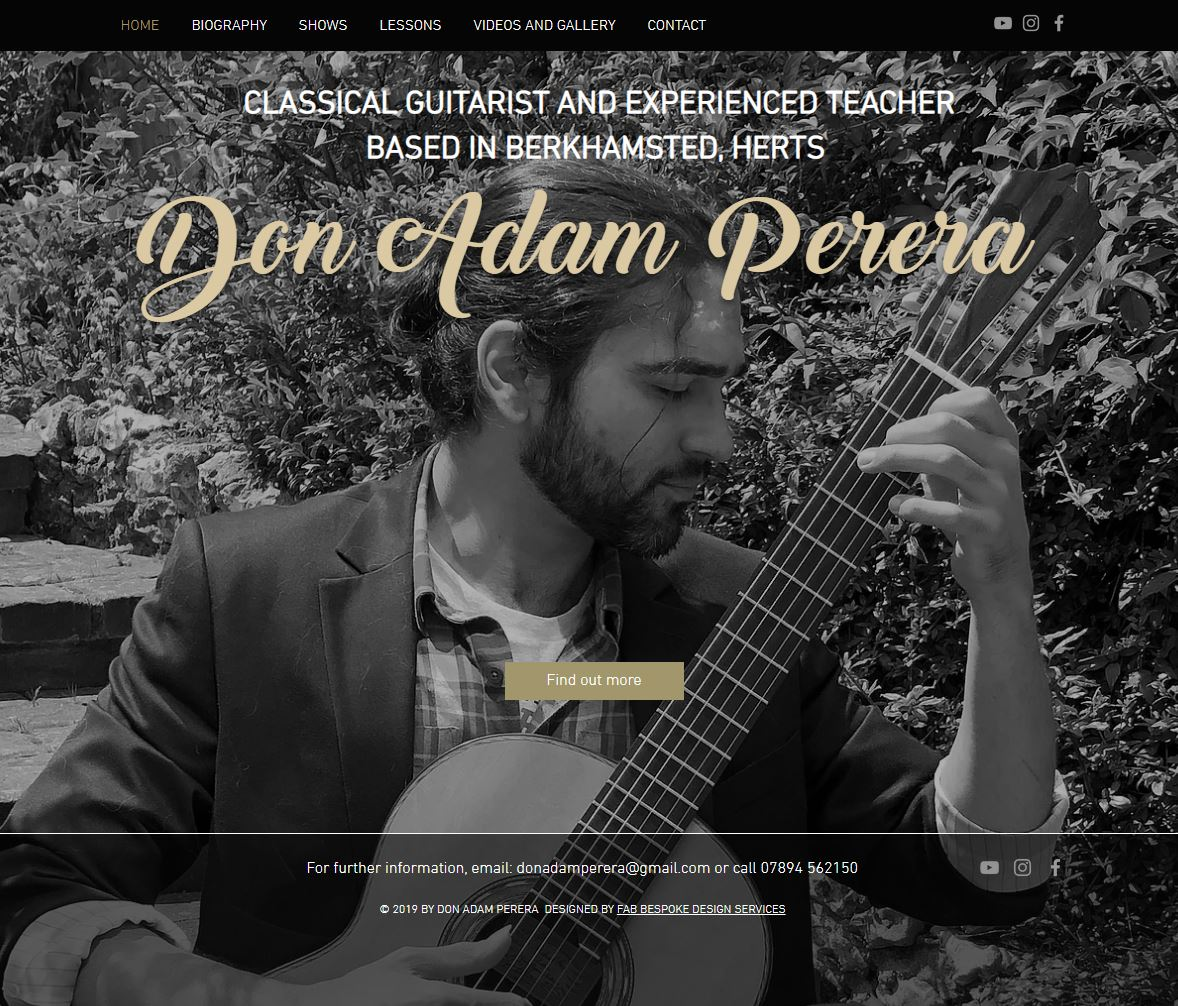 Don Adam Perera Classical Guitarist