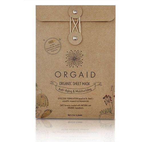 Orgaid Anti-Aging and Moisturising Organic Sheet Mask - 4 Pack