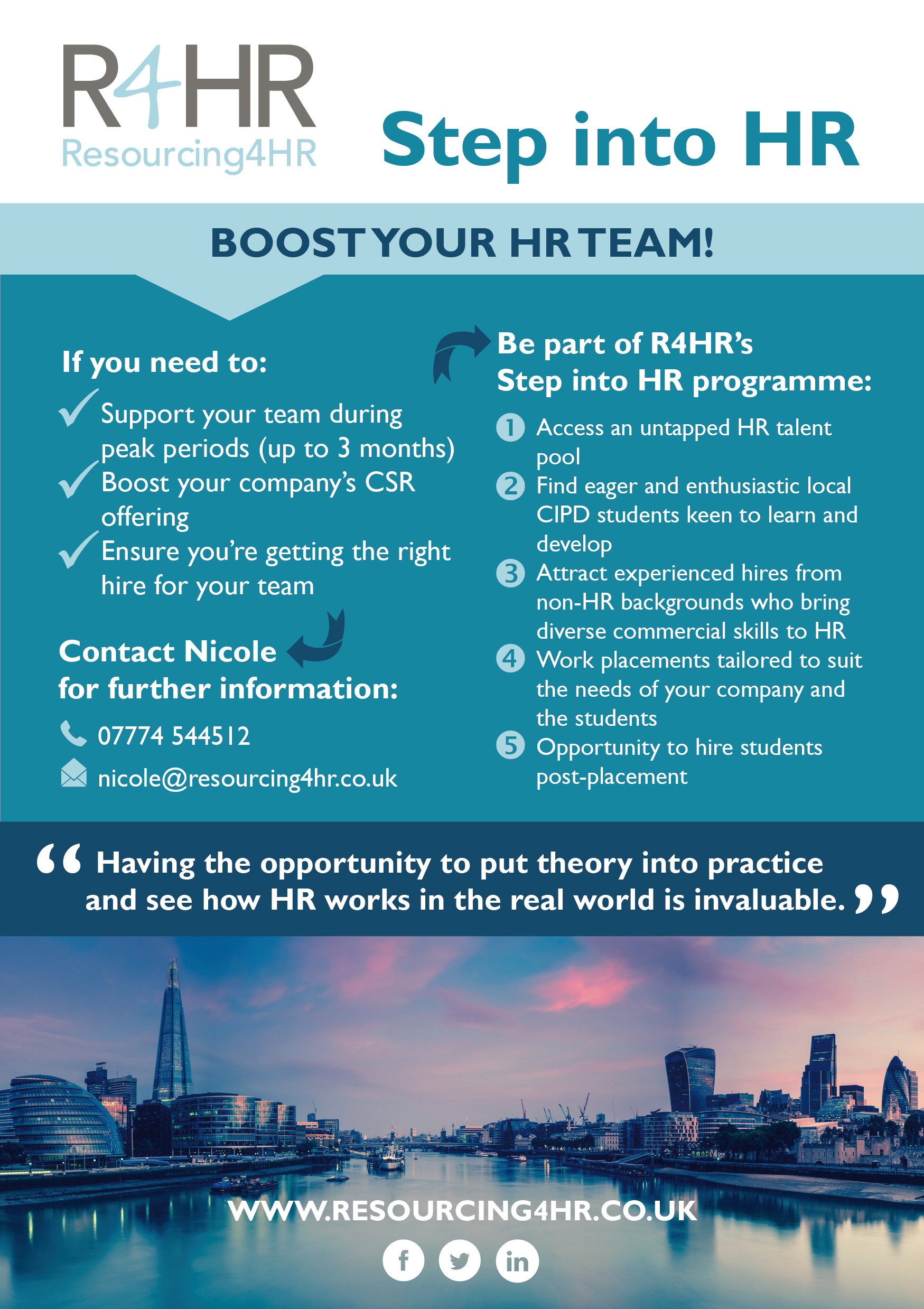 Step into HR Client Flyer