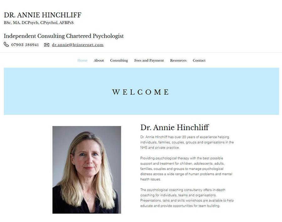 Dr Annie Hinchliff | Psychologist