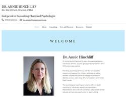 Dr Annie Hinchliff   Psychologist