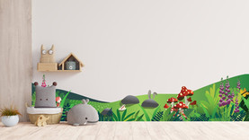 Alice in wonderland themed wall decal