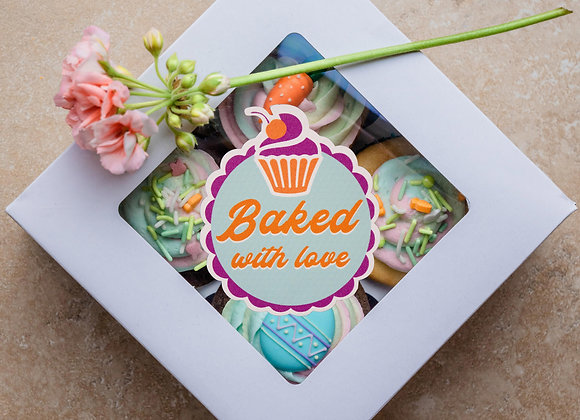 Baked with love A4 sheet with 35 bubble cut stickers