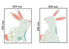 2 bedroom bunny wall stickers
