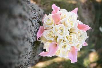 White Pink Wedding Crystals Bouquet at Fairy Tale Wedding in Canfield, OH Photo by FerrerFoto