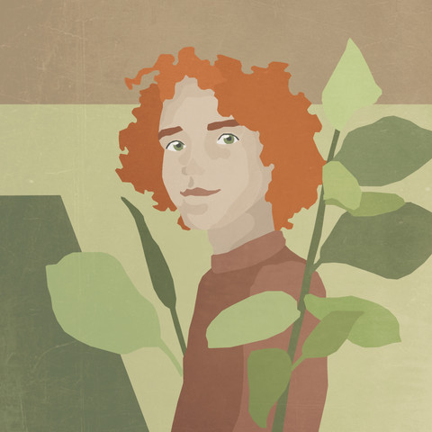 En av illustrasjonene i boken om Malu