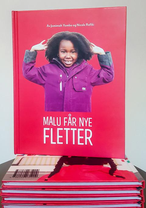 Omslag til boken om Malu