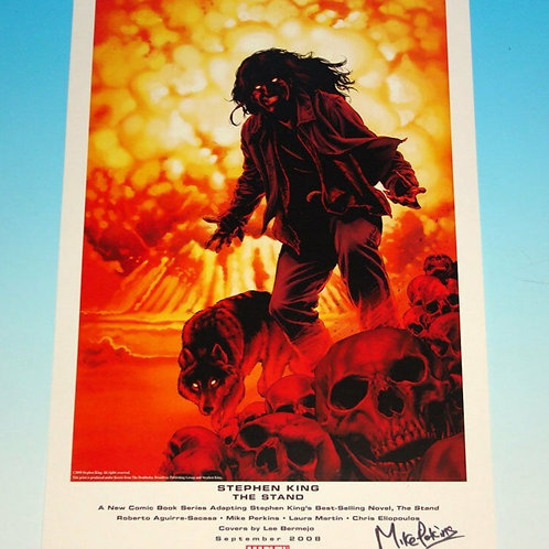 """Stephen King's The Stand Marvel Art Print 11"""" x 17"""" Signed by Artist"""