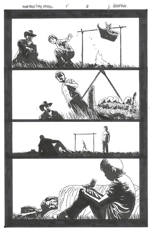 "The Dark Tower Marvel Comic Series ORIGINAL Artwork - 11"" x 17"" pen + ink"