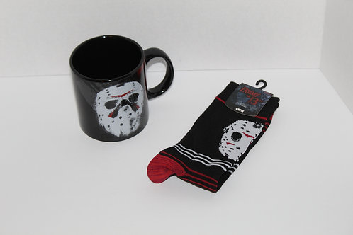 Friday the 13th Coffee Mug & Socks Combo