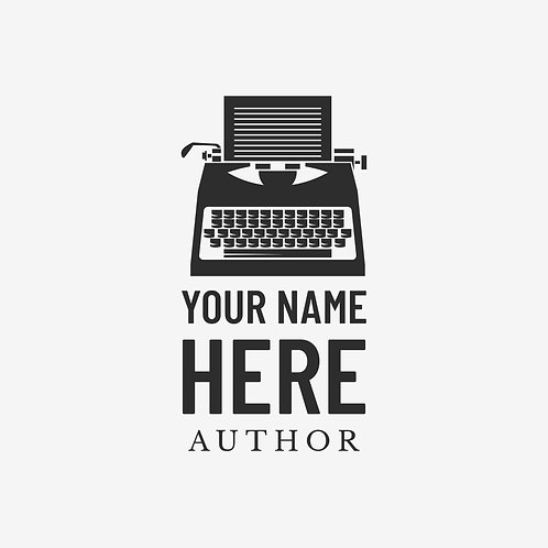 Basic Typewriter Writer/Author Logo