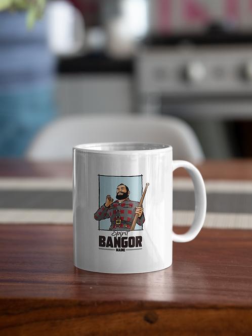 "Paul Bunyan Statue ""Spirit of Bangor"" Coffee Mug"