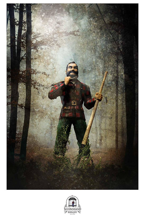 """""""Paul Bunyan Statue"""" by Francois Vaillancourt 11"""" x 17"""" Signed Print"""