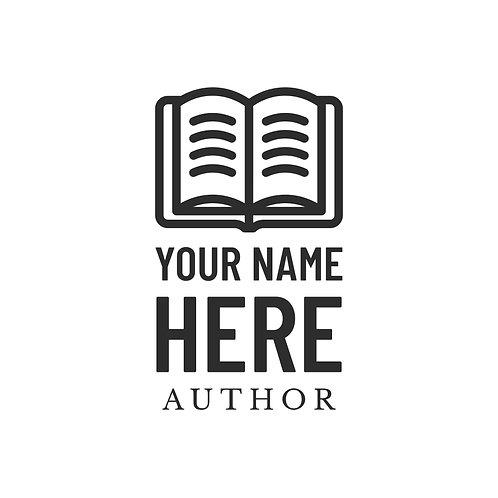 Basic Book Writer/Author Logo