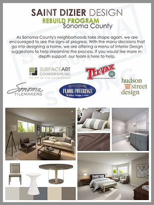 Sonoma Strong - Fire Rebuild - Countertop Discount - St Dizier Design, Sonoma Tilemakers, Hudson Street Design, Healdsburg Floor Coverings and TeeVax